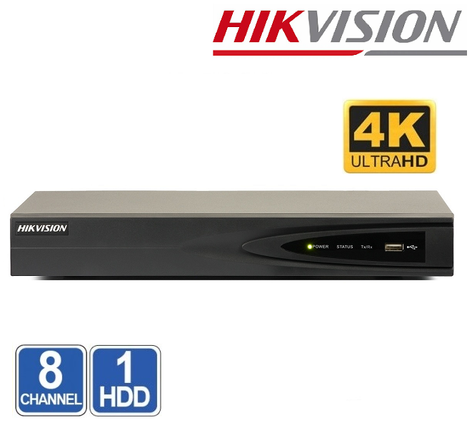 NVR 8 CHANEL HIKVISION DS-7608NI-Q1 8MP 4K
