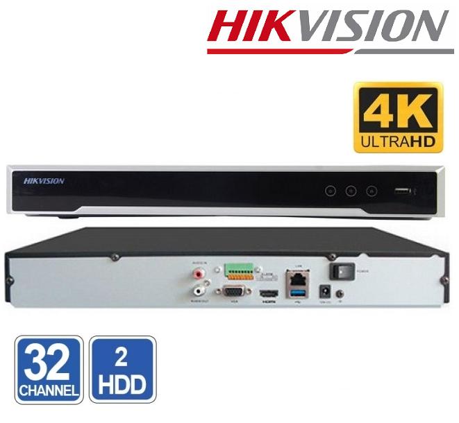 NVR 32 CHANEL HIKVISION DS-7632NI-K2 8MP