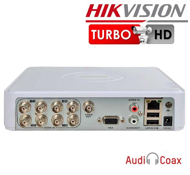 XVR 8 CHANEL HIKVISION - DS-7108HQHI-K1 - Pentabrid + Coax audio