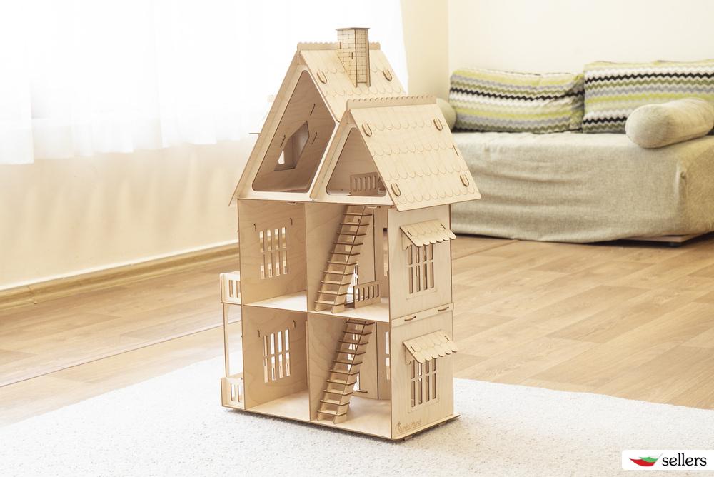 Дървен конструктор Голяма Къща
