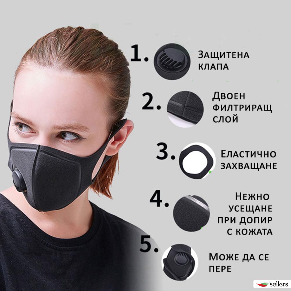 Маска противопрахова PM2.5
