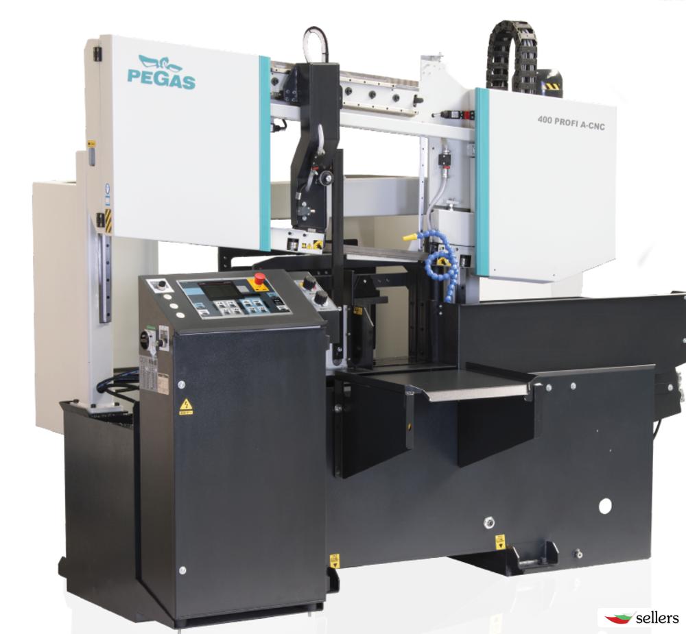 Автоматична двуколонна лентоотрезна машина PEGAS 400 Profi A-CNC