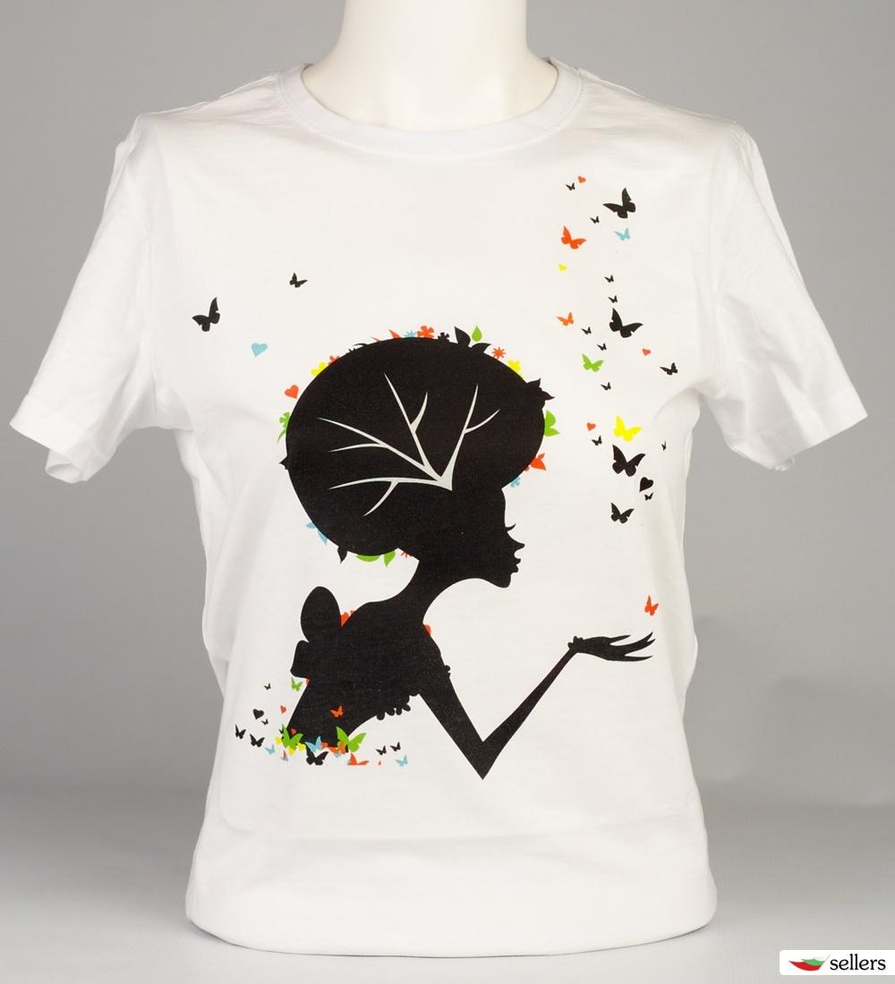 Дамски тениски с дигитален печат по различен дизайн