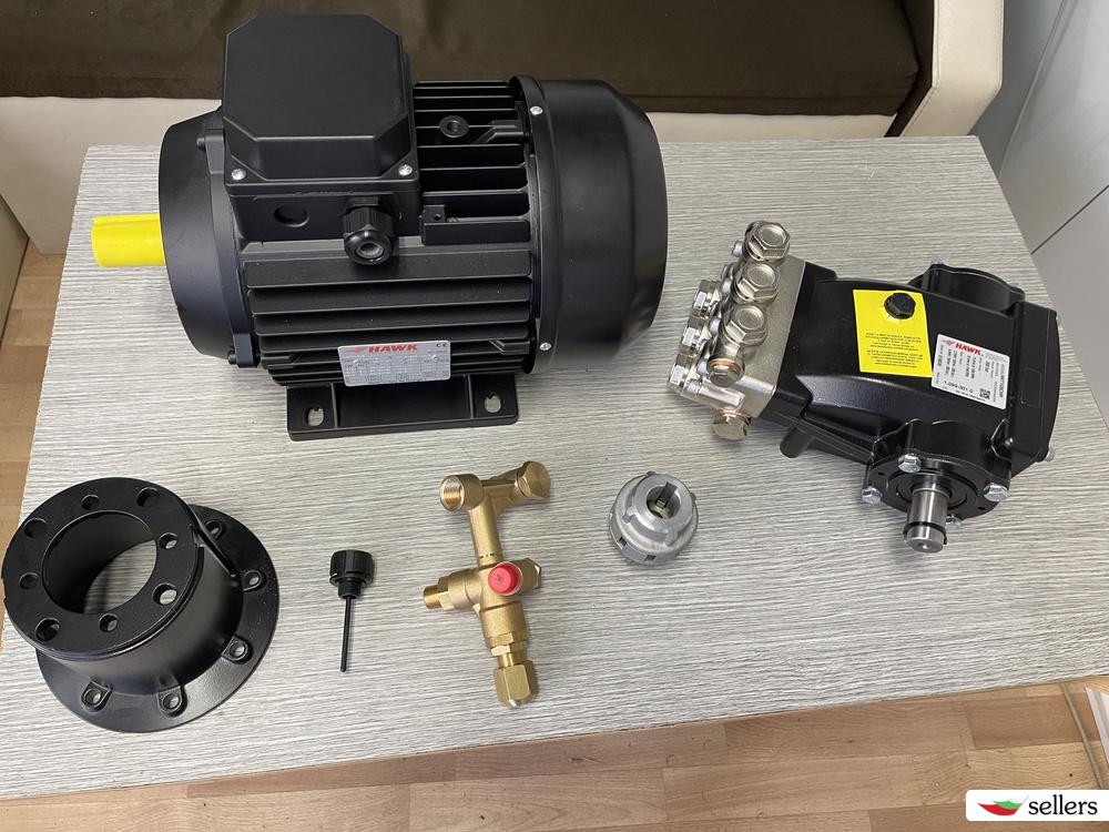 Водоструйка мотор с помпа Хълк 200 бара 5.5kw Hulk