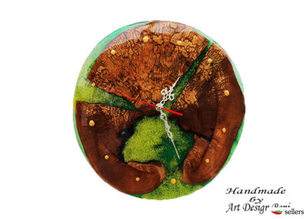 Арт смола и дърво - картини, часовници за стена, подноси