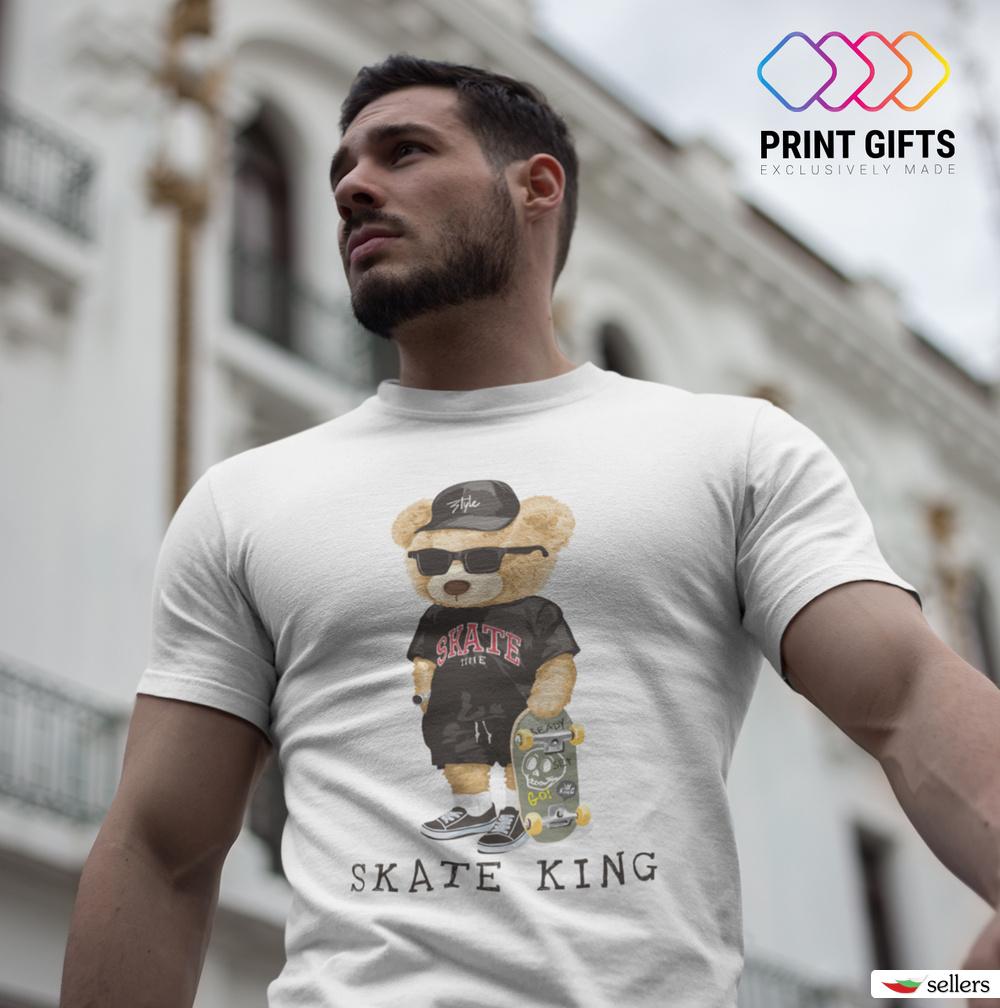 Мъжка Тениска Skate king