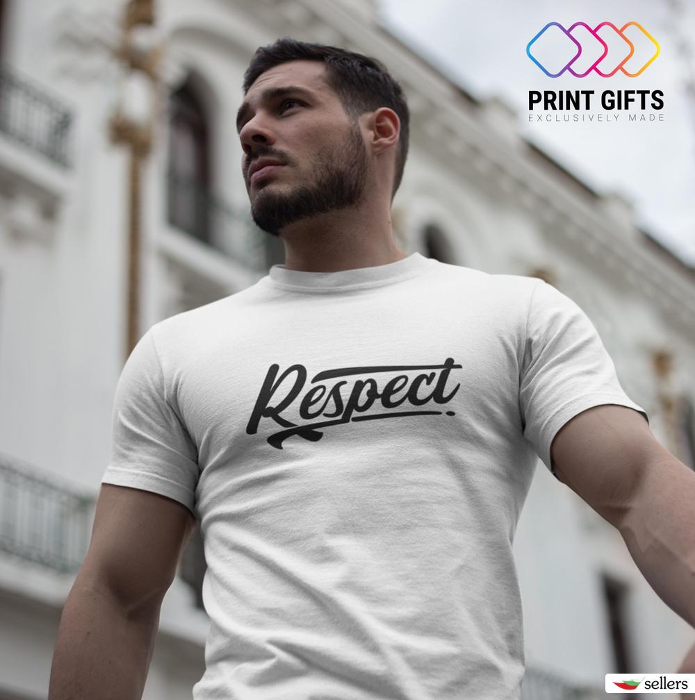 Мъжка тениска Respect