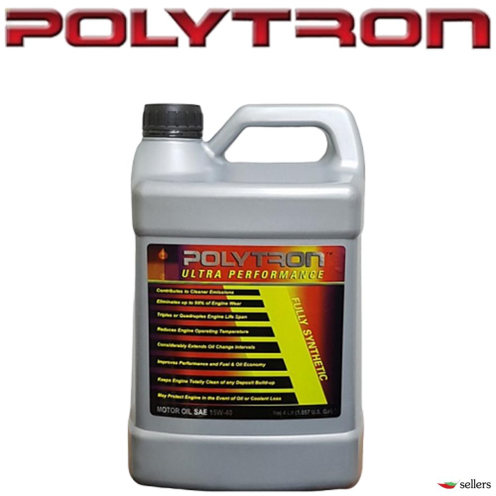 POLYTRON SAE 15W40 - Синтетично моторно масло - 4л. - интервал на смяна 50 000км.