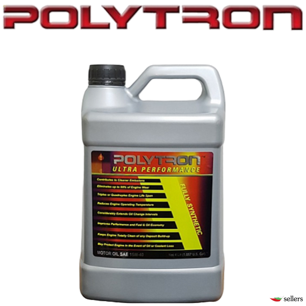 POLYTRON SAE 15W40 - Полусинтетично моторно масло - 4л. - интервал на смяна 25 000км.