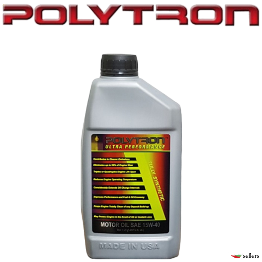 POLYTRON SAE 15W40 - Полусинтетично моторно масло - 1л. - интервал на смяна 25 000км.