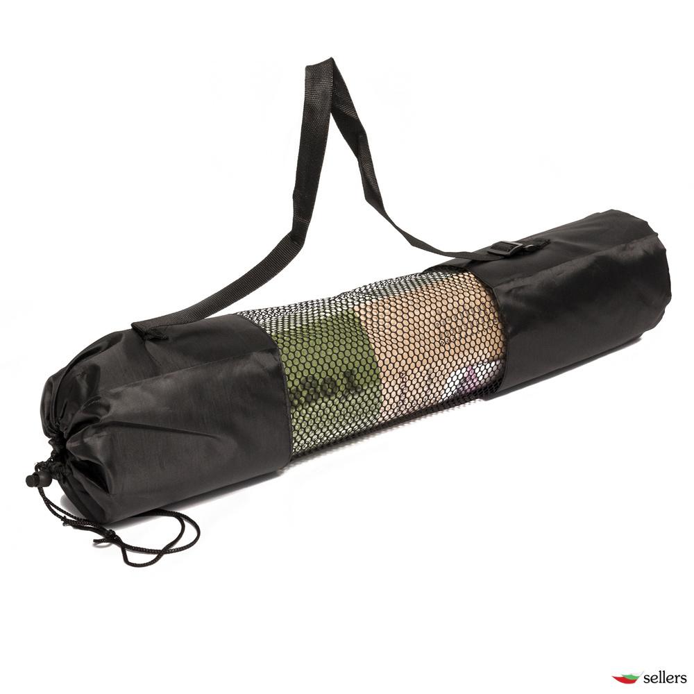 Еко Постелка за Йога 183см х 61см, 6мм, с Чанта за пренасяне