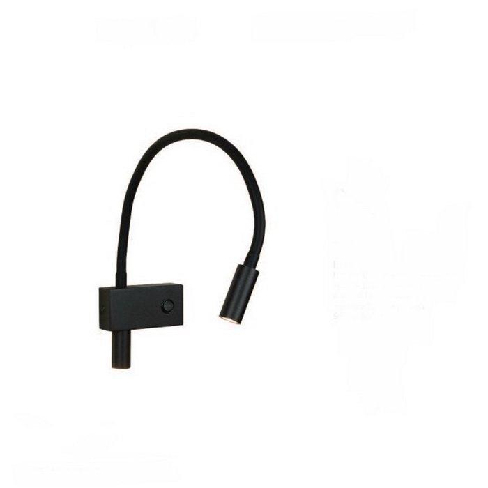 Аплик ZAMBELIS H-50 Черен мат, LED 2x3w, 240Lm, 3000k
