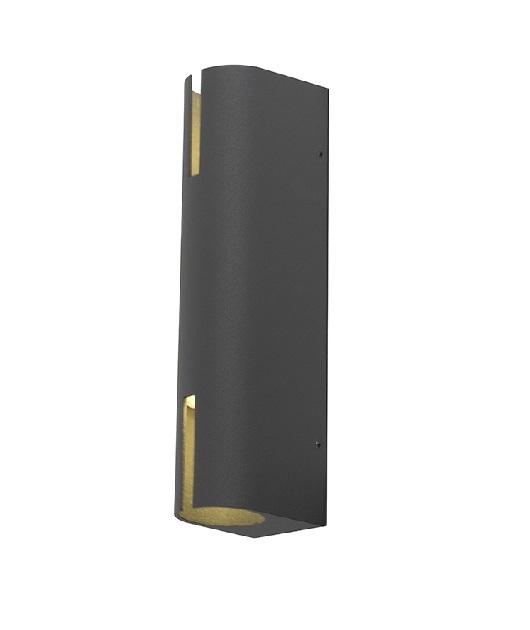 Аплик ZAMBELIS E-176, Графит, LED 2x8W, 640Lm, IP54