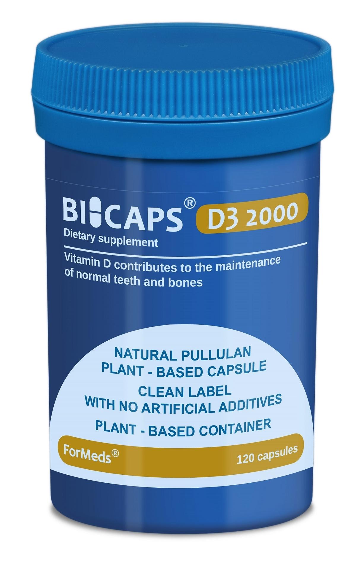 Bicaps D3 2000 (120 капсули)