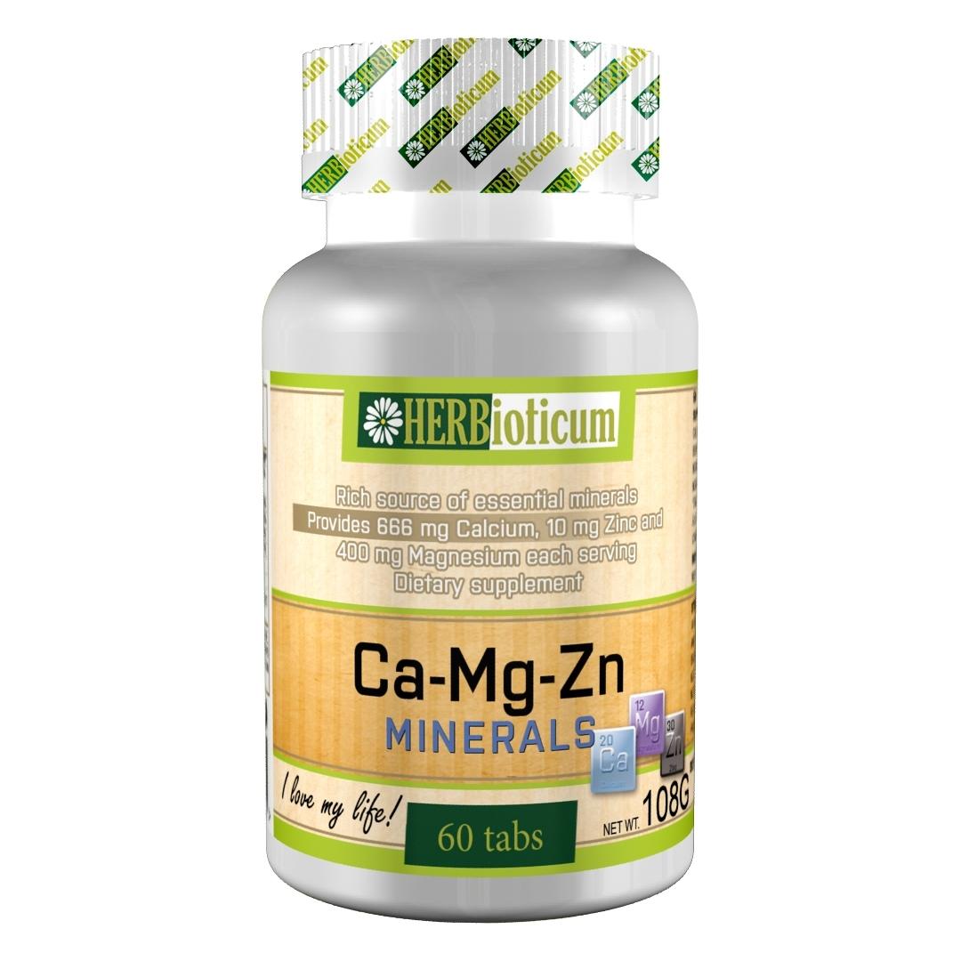 Ca-Mg-Zn minerals (60 таблетки)