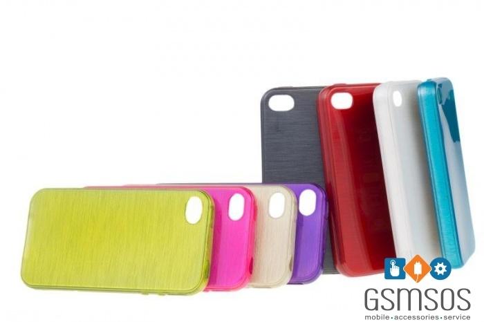 Силиконов калъф Jelly Brush за iPhone 6 Plus 6S Plus Червен