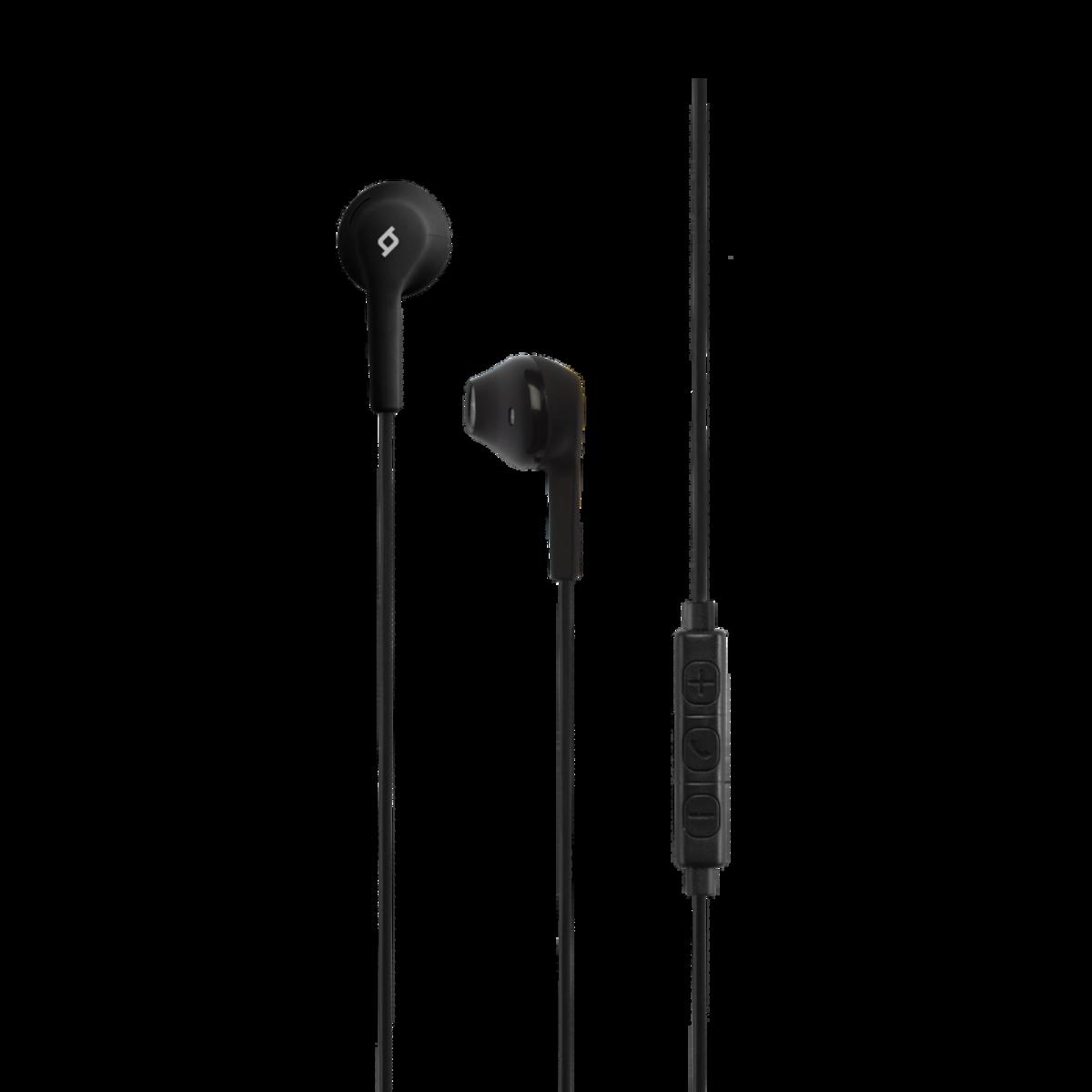 Слушалки RIO In-Ear Headphones with Built-in remote control - Черни, 117951