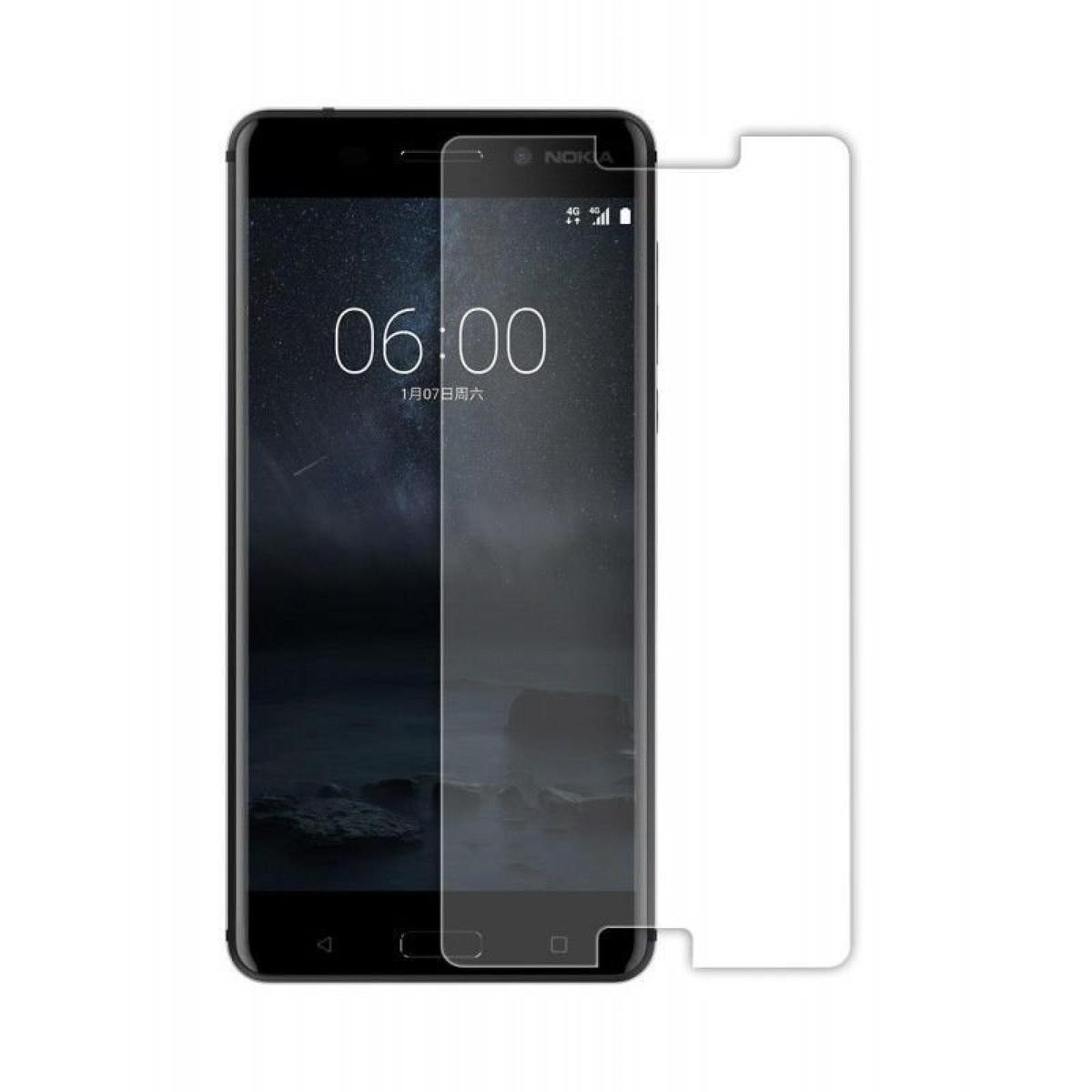 Стъклен протектор OEM за Nokia 5  Черен/Прозрачен