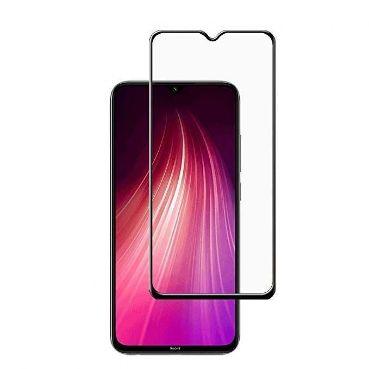 Стъклен протектор OEM за Xiaomi Redmi Note 8 5D Full Glue Прозрачен
