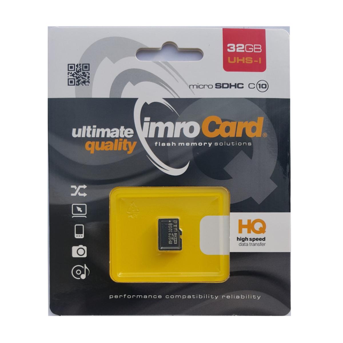 Карта памет IMRO Memory MicroSD Card - 32GB без адаптер UHS I CLASS 10