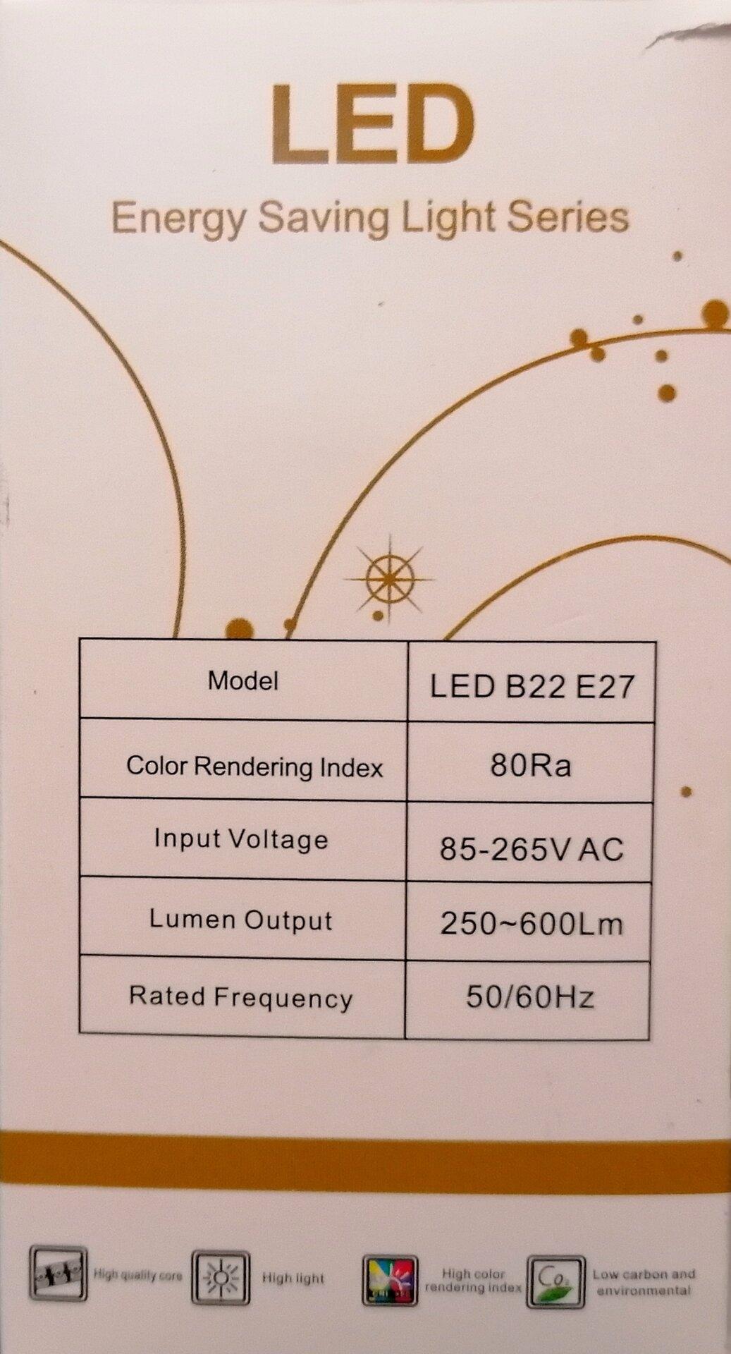 LED лампа E27 12W М19-342