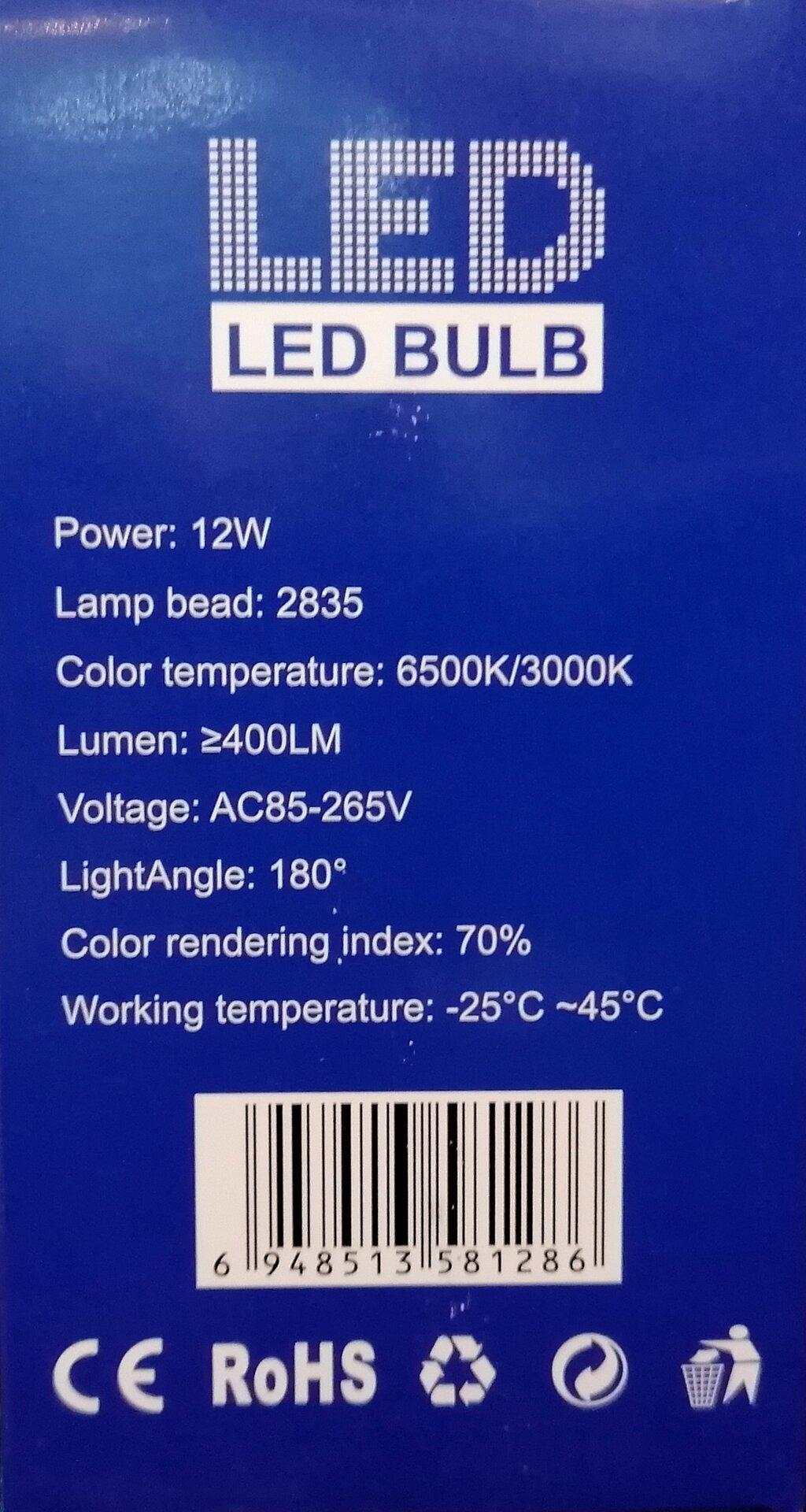 LED лампа E27 12W М19-343