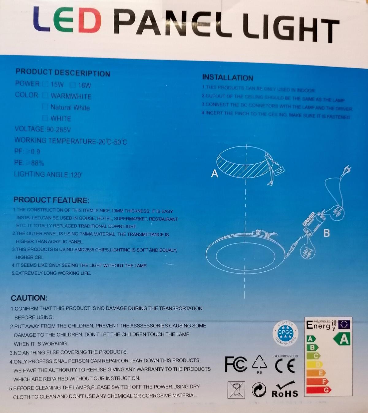 LED Панел за вграждане кръг 18WМ19-344