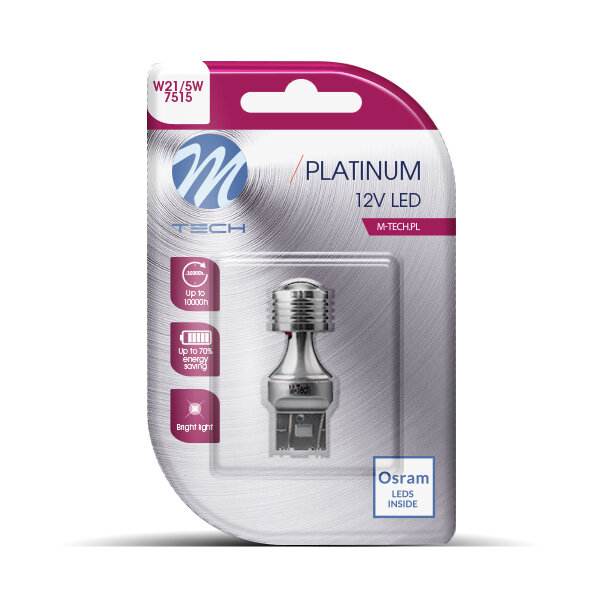 M-TECH LED W21/5W 4xSMD3030 CANBUS White крушка