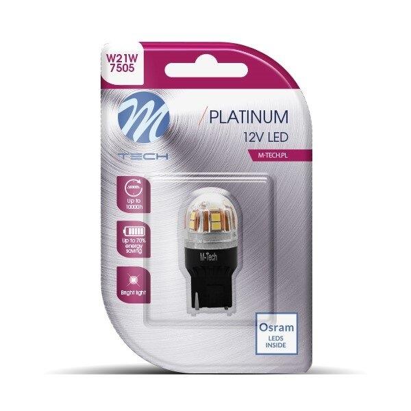 M-TECH LED W21W 15xSMD2835 CANBUS White крушка