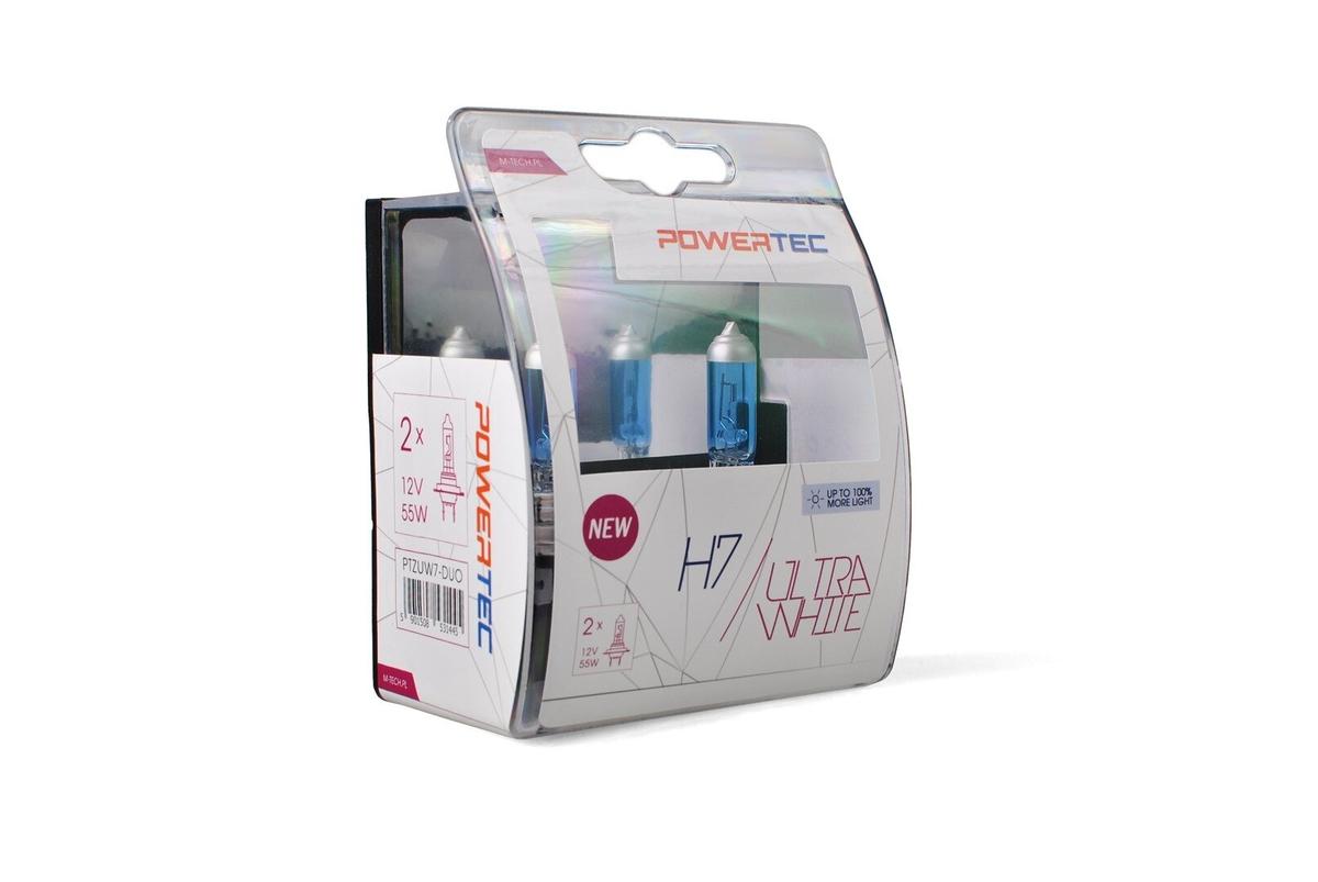 Powertec Ultra White H7 12V комплект халогенни крушки