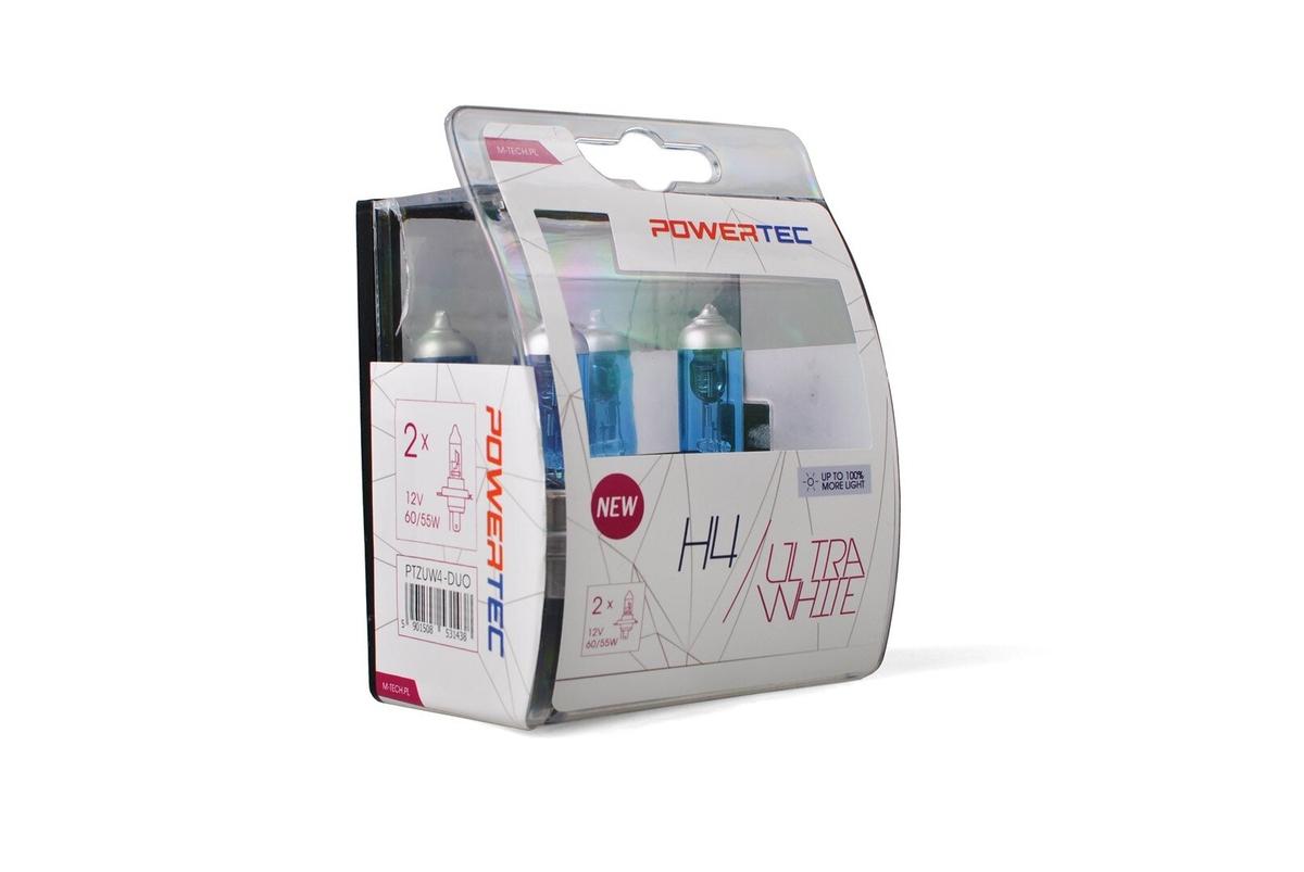 Powertec Ultra White H4 12V комплект халогенни крушки